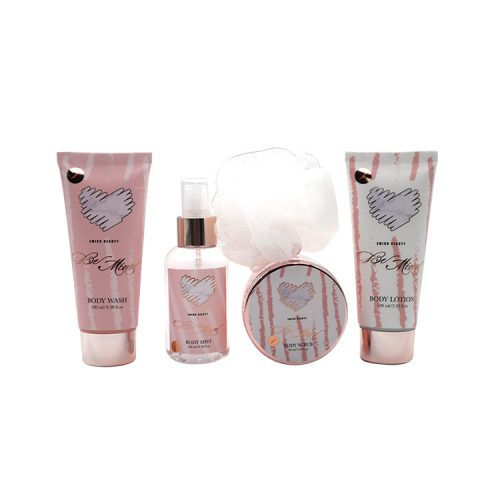 pink toiletry bath gift set for woman in cosmetic-1
